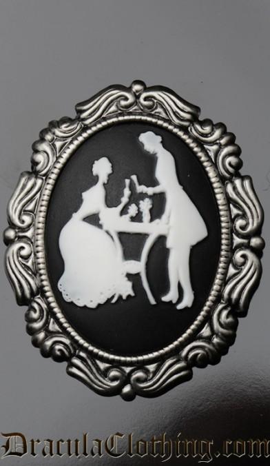 Victorian Couple Brooch