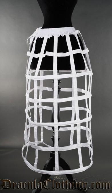 White Cage Skirt