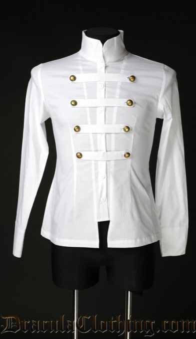 White Cotton Naval Shirt