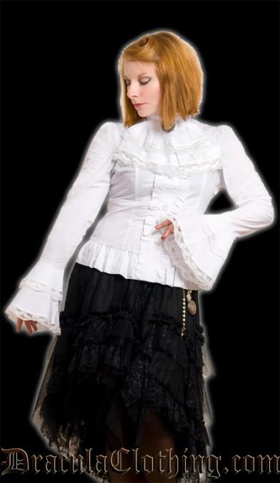White Cravat Blouse