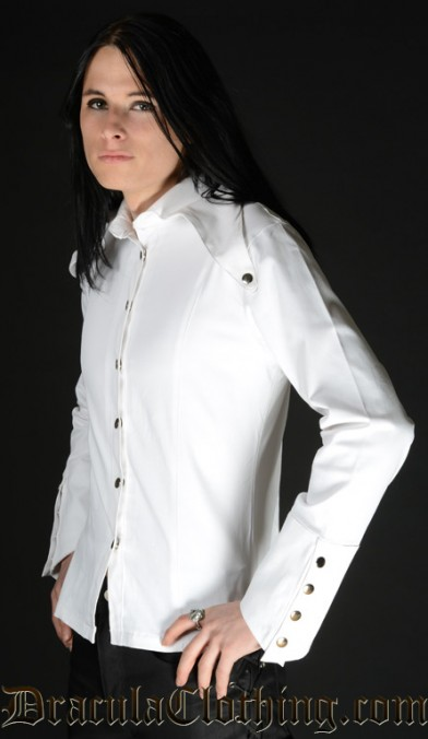 White Long Lapel Shirt
