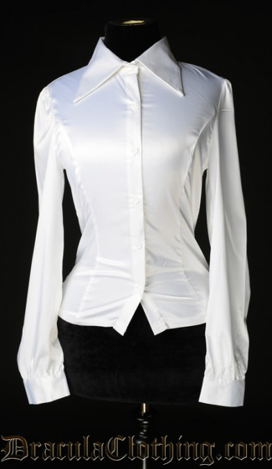 White Satin Marquess Blouse