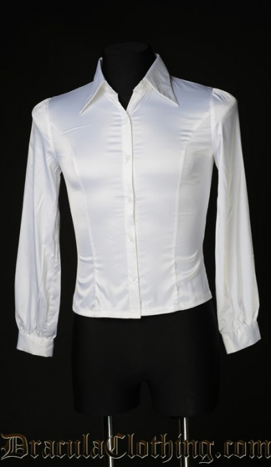 White Satin Marquis Shirt