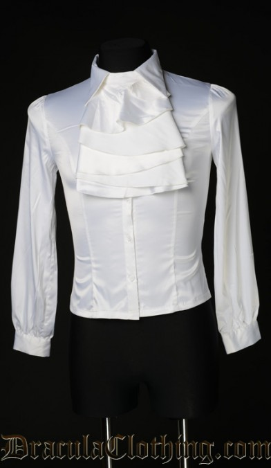 White Satin Marquis Shirt