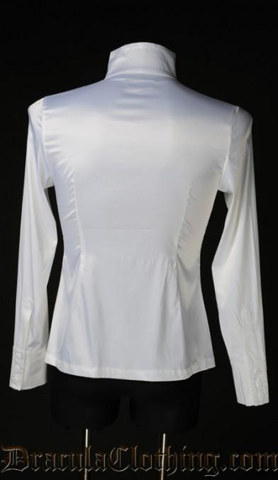 White Satin Naval Shirt