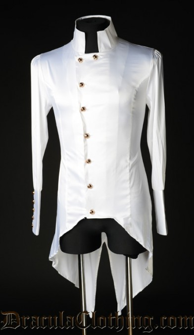 White Satin Regal Shirt