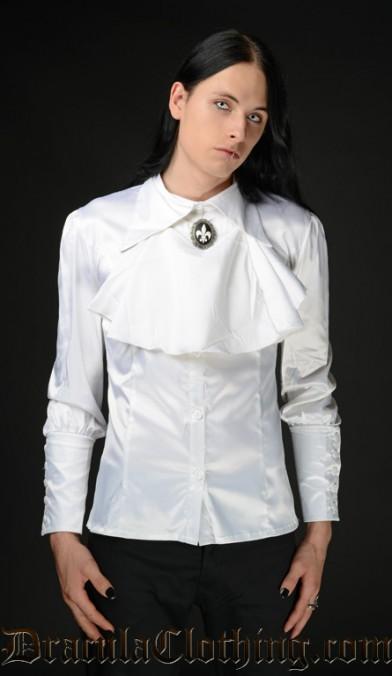 White Satin Cravat Shirt