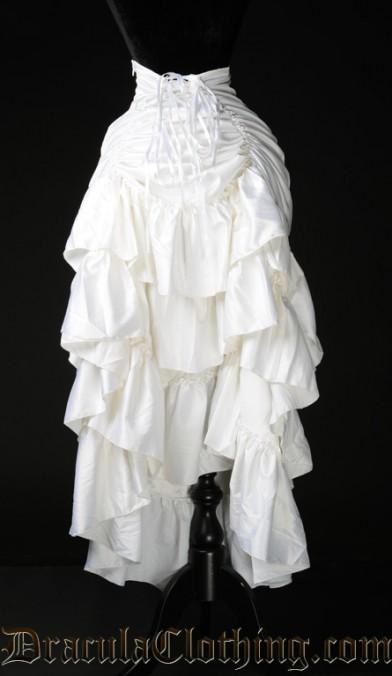 White Satin Three Layer Skirt