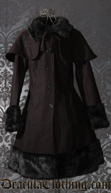Thick Winter Wool Coat Brown