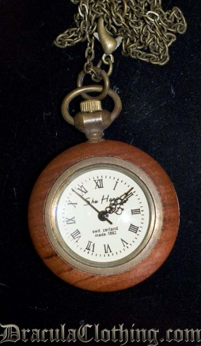 Wooden Necklace Watch