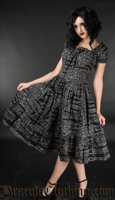 Writing Gothabilly Dress
