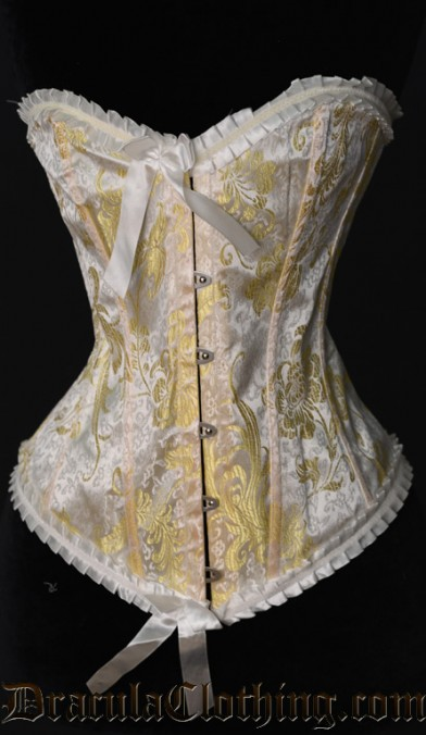 Yellow Brocade Corselette