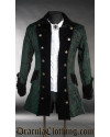 Green Brocade Pirate Jacket