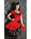 Lucretia Dress, red