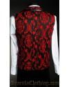 Red Brocade Tesla Vest