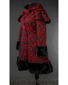 Red Brocade Thick Winter Coat