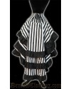 Striped Layer Bustle Skirt