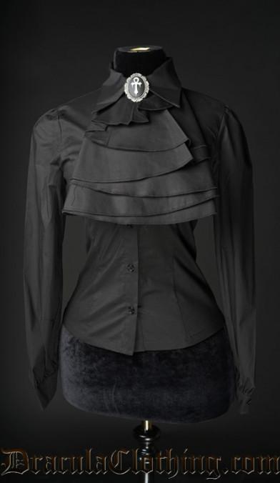 Black Cotton Marquess Blouse