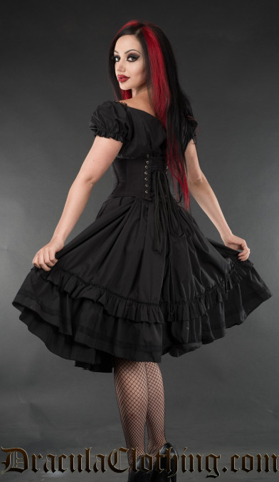Black Gothabilly Dress