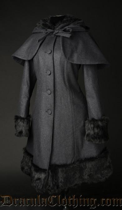 Dark Grey Thick Winter Wool Coat