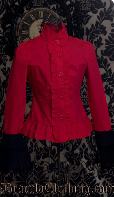 Red Cravat Blouse