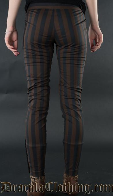 Steampunk Striped Five Button Pants