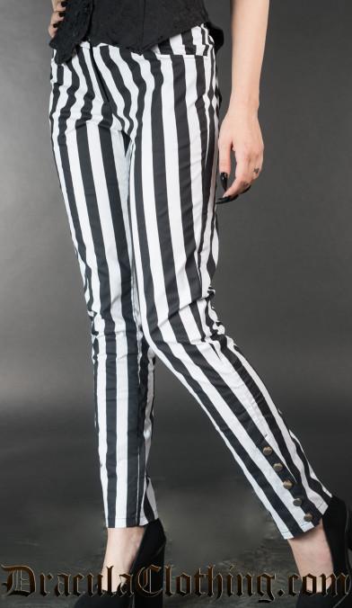 Striped Five Button Pants