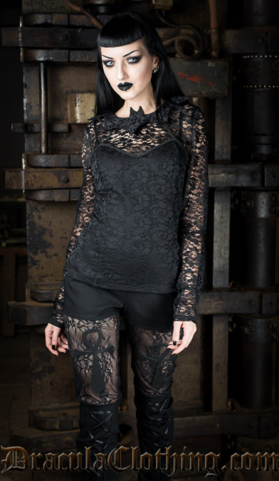 Bat Lace Top