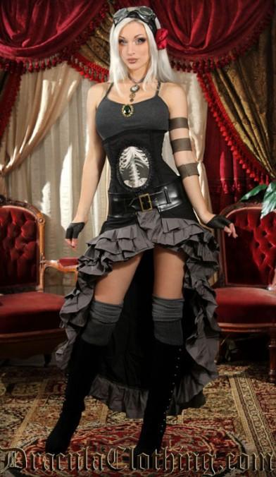 Black and Grey Vex Skirt