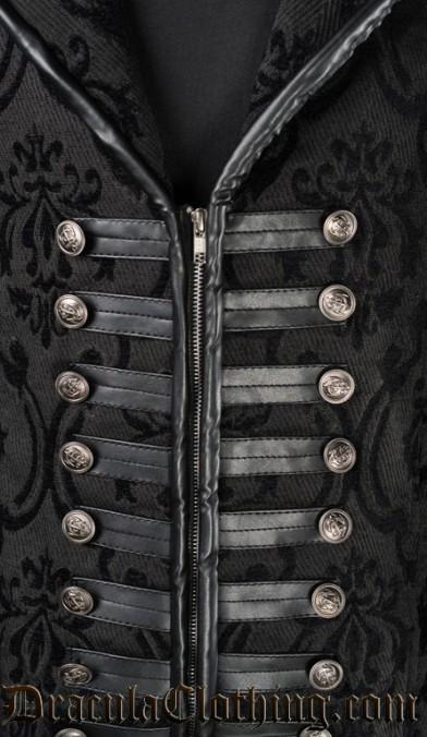 Black Brocade Captain Coat