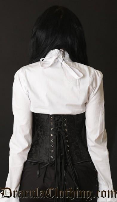 Black Brocade Clasp Corset