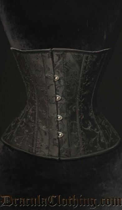 Black Brocade Corset