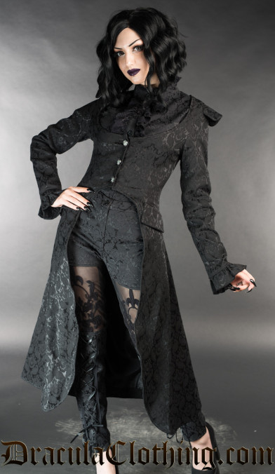 Black Brocade EGA Coat