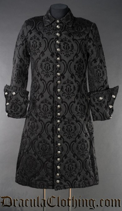 Black Brocade Admiral Coat