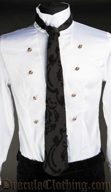 Black Brocade Tie