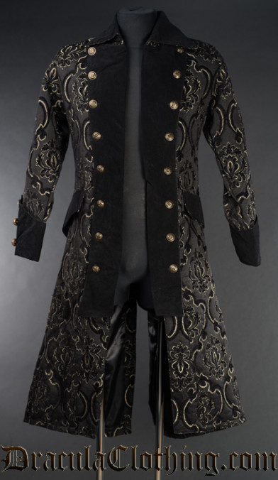 Black Jacquard Pirate Coat
