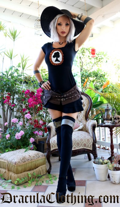 Black Layered Mini Skirt
