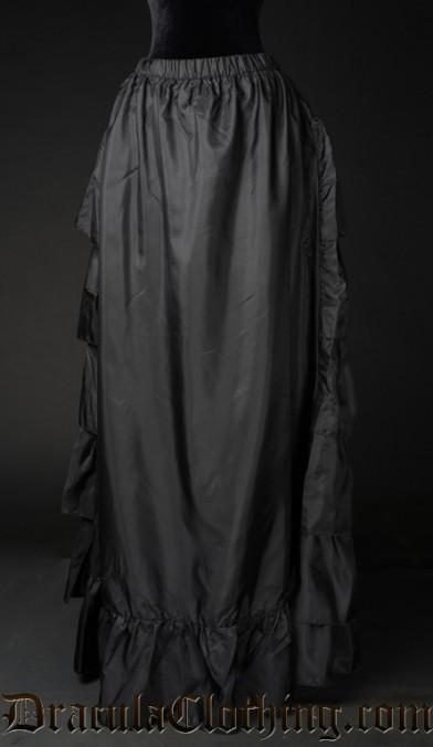 Black Satin Bustle Underskirt