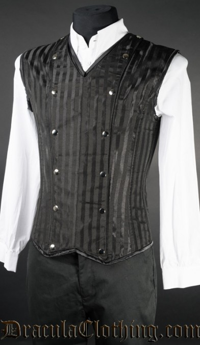Black Striped V-Shaper
