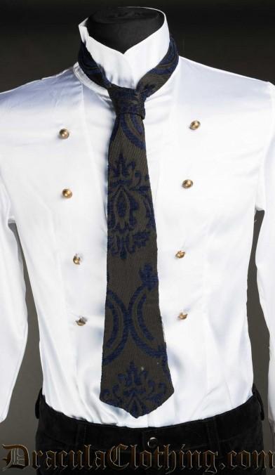 Blue Brocade Tie