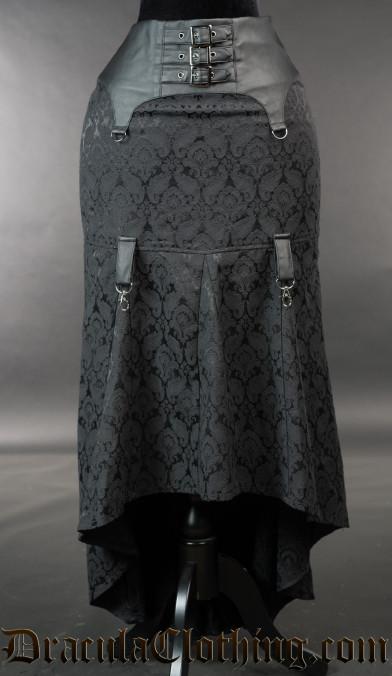Brocade Pull Up Skirt