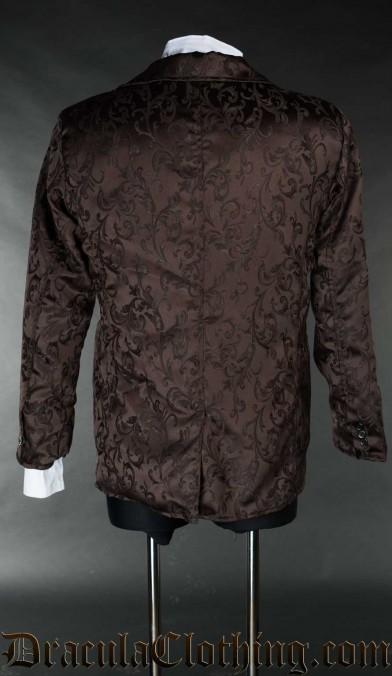 Brown Brocade Suit Jacket