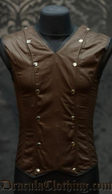Brown Cotton V-Shaper