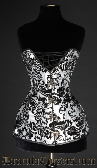 Brocade Cleavage Corset, size 22