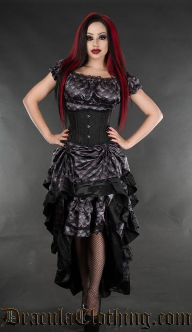Dragon Scale Layer Bustle Skirt