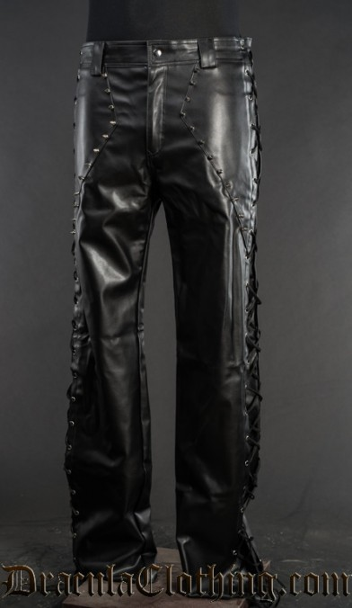 Faux Leather Spiked Pants