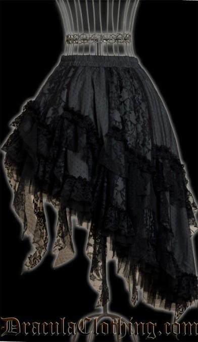Grey Ruffle Skirt