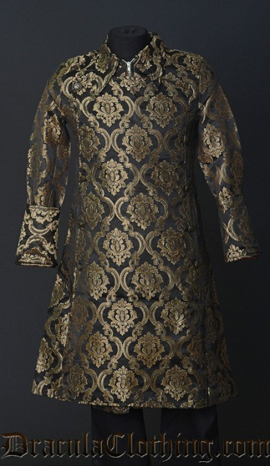 Gold Brocade Officer Coat