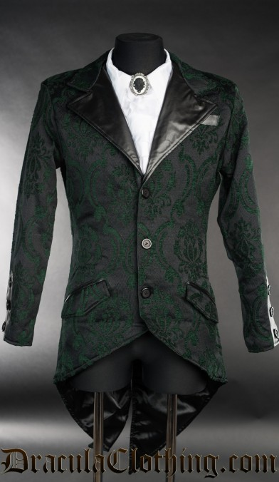Green Brocade Tailcoat