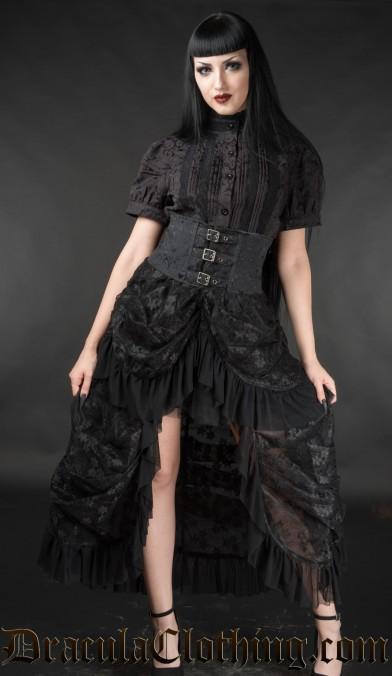 High Waist Bustle Skirt